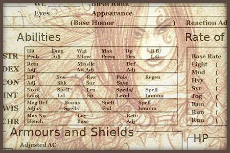 AD&D Character Sheet