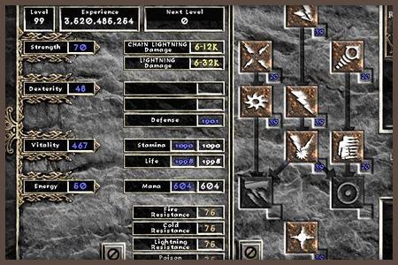 Diablo 2 stats