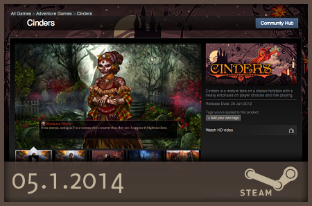 Cinders Steam launch date
