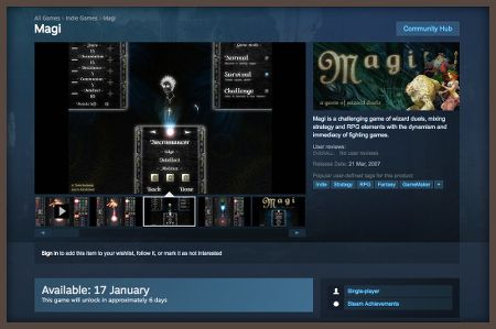 Magi coming to Steam