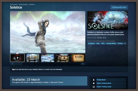 Solstice comes to Steam on March 23rd!